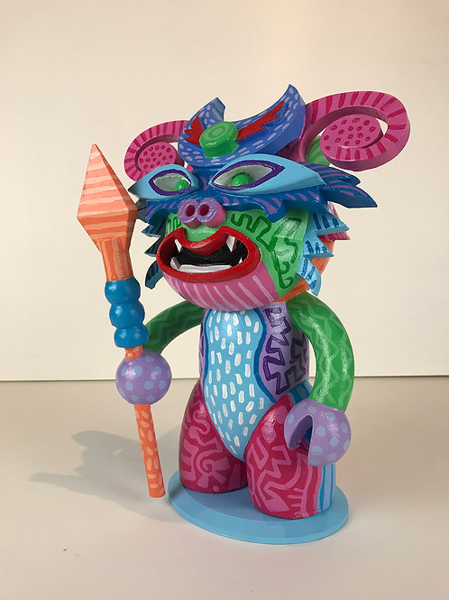 """Guardian, 12""""x9""""x5"""", Hand Painted, 3d printed sculpture"""
