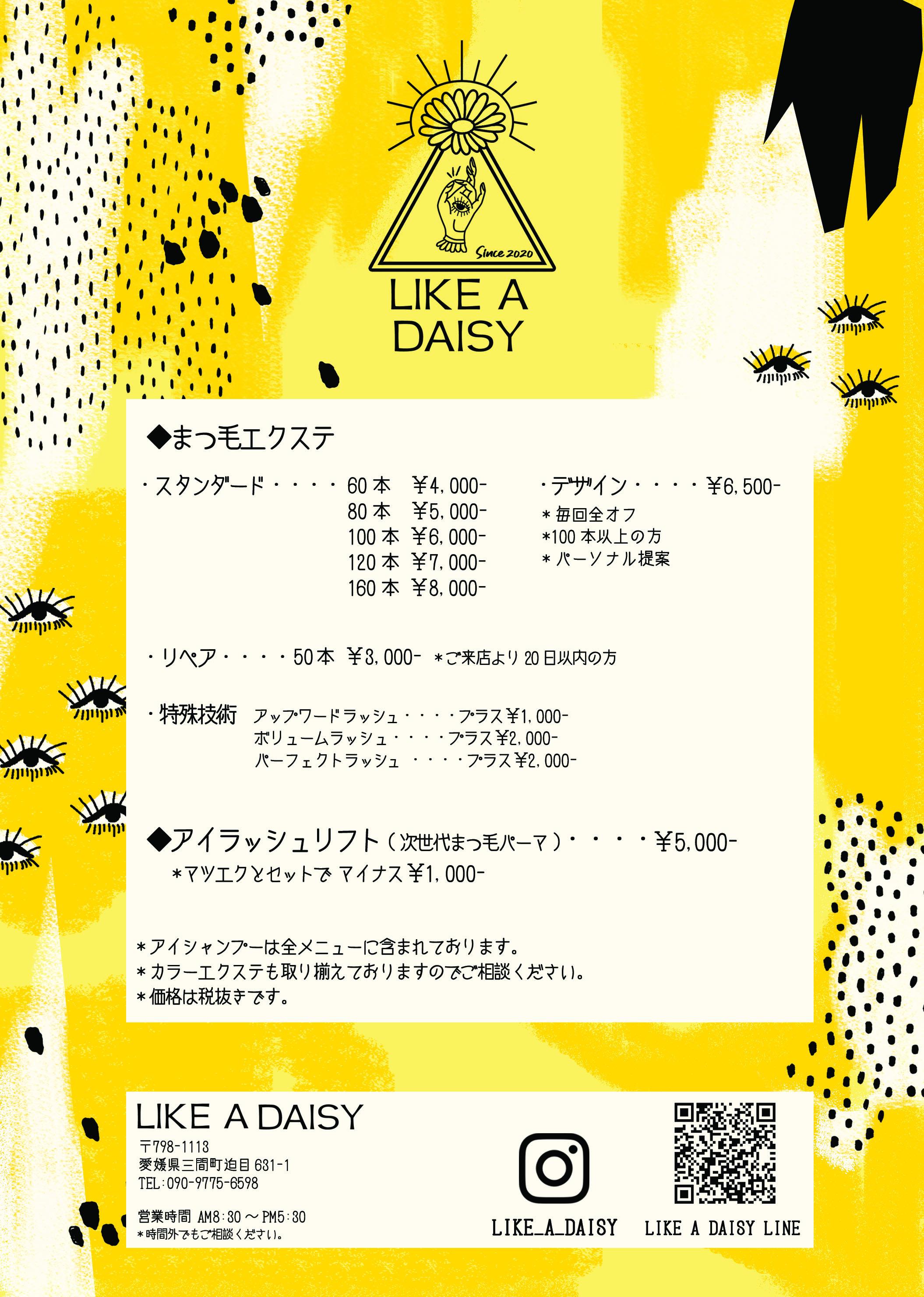 Like a Daisy フライヤーdesign