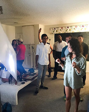 """On set for Music video """"Away"""".jpg"""