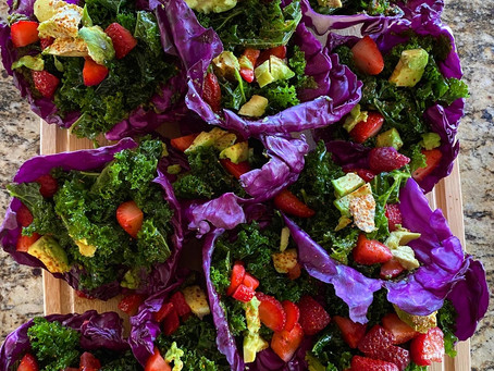 Raw Vegan Rainbow Tacos