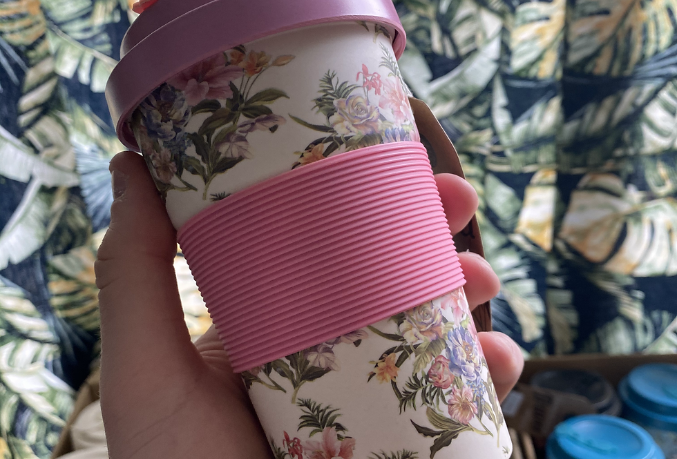 Bamboo Floral Coffee Cup