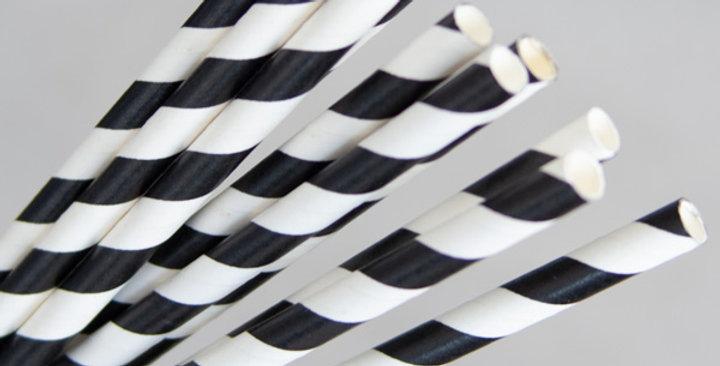 Black/White Paper Eco Straws