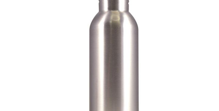 Silver Stainless Steel Sports Bottle
