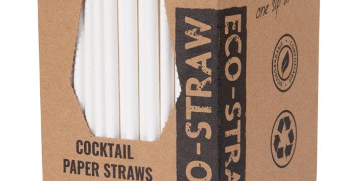 White Cocktail Paper Eco Straws