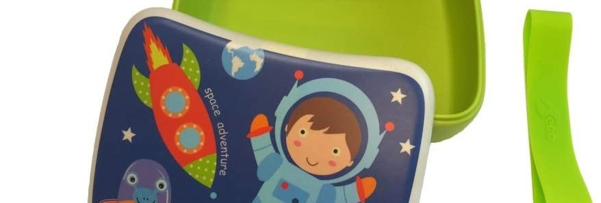 Childrens Spaceboy Bamboo Lunchbox