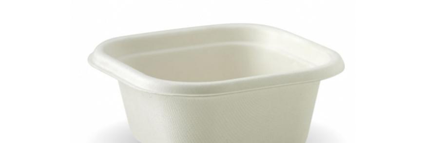 White Biocane Tub Takeaway Base (Lid Seperate)