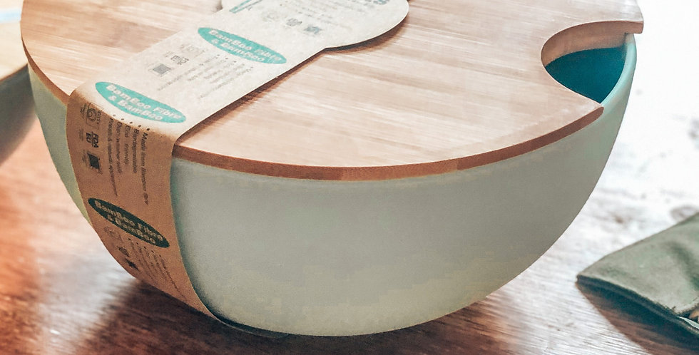 Large Bamboo Salad Bowl with Lid