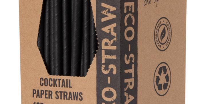 Black Cocktail Paper Eco Straws