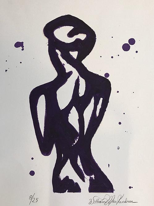Mackendree, Femme de dos violet