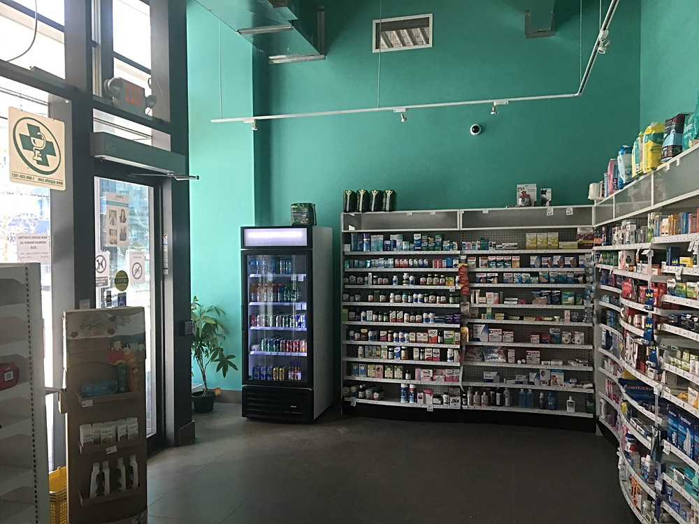 Security camera viewing main entrance and store front