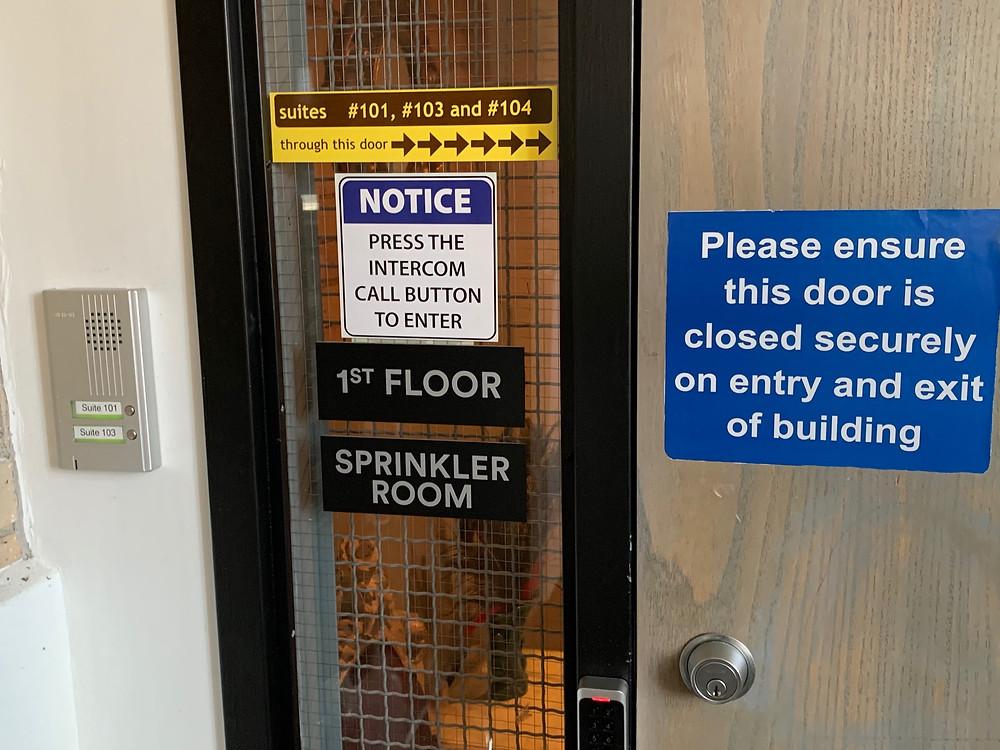 Full control of door entry