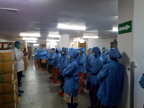 Covid 19 Pep Talk- Awareness about personal hygiene, sanitation, handwash, facemask, shop floor hygiene, use of disinfectant during and after working, GMP maintainance on shop floor