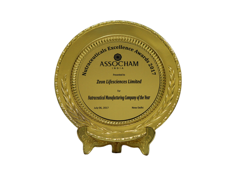 Nutraceutical Manufacturing Company of the Year 2017, ASSOCHAM India