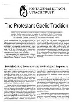 Protestant Gaelic Tradition
