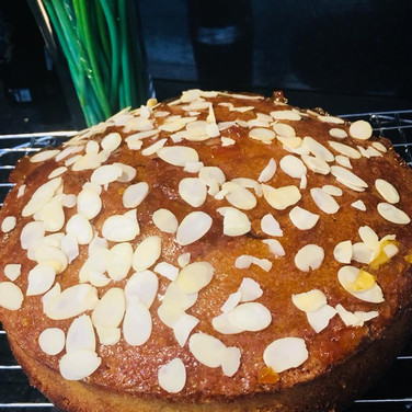 vegan pear and almond cake