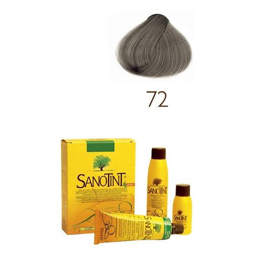 Farba do Włosów na Naturalnej Bazie 72 POPIELATY CIEMNY BLOND SANOTINT SENSITIVE