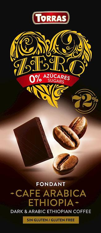 Czekolada Gorzka 72% z Kawą Bez Dodatku Cukru ZERO 100g Torras