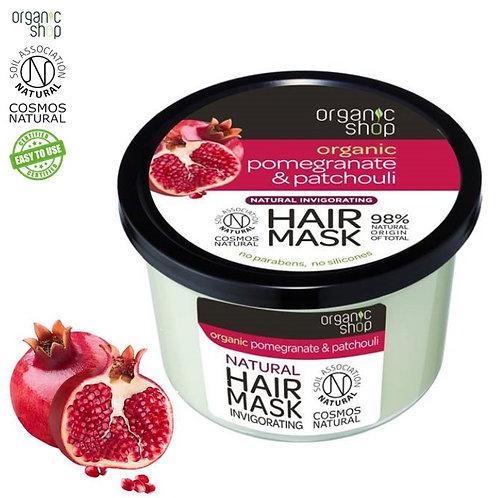 Orzeźwiająca Maska do włosów Granat&Paczula - Gładkość i Perfekcja Organic Shop