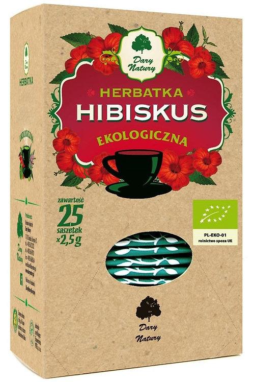 Herbatka Hibiskus BIO (25x2,5g) Dary Natury