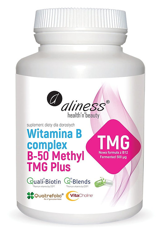 Witamina B Complex B-50 Methyl TMG 100kaps. Aliness