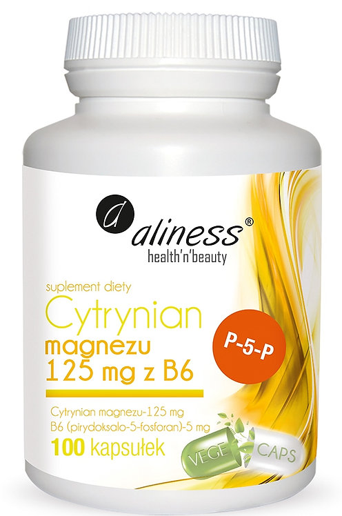 Cytrynian Magnezu 125 mg z B6 (P-5-P) 100kaps. Aliness