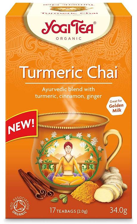 Złoty czaj z kurkumą TURMERIC CHAI Bio Yogi Tea