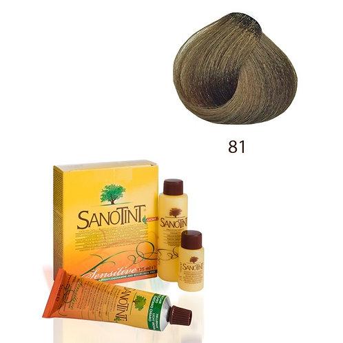 Farba do Włosów na Naturalnej Bazie 81 NATURALNY ŚREDNI BLOND SANOTINT SENSITIVE