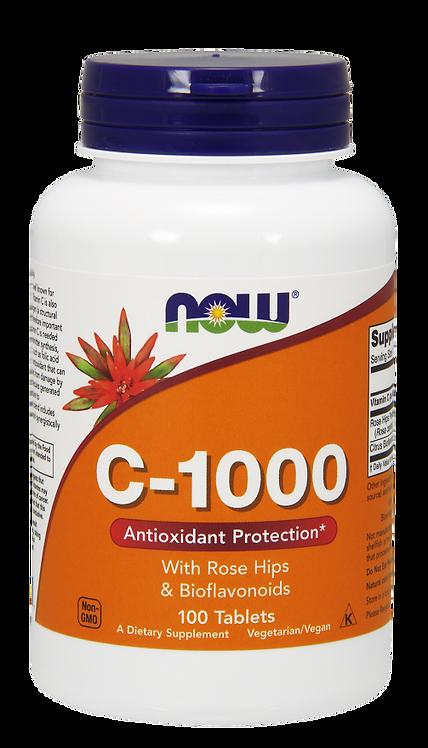 C-1000 + Rose Hips&Bioflavonoids 100tabl NOW FOODS