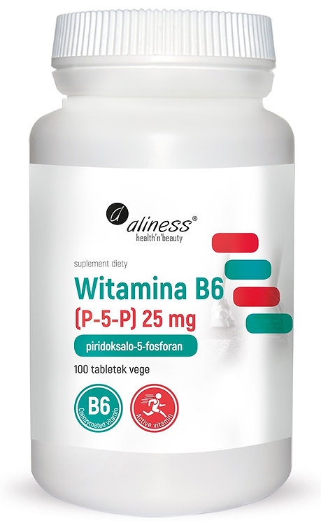 Witamina B6 25 mg 100 Vege tabl. Aliness