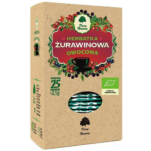 Herbatka Żurawinowa BIO (25x2,5g) Dary Natury