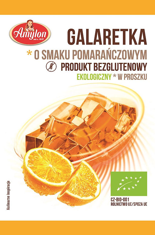 Galaretka Pomarańczowa Bezglutenowa BIO 40g AMYLON