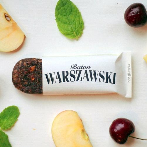 Baton Wiśnia, Jabłko i Mięta 60g Baton Warszawski