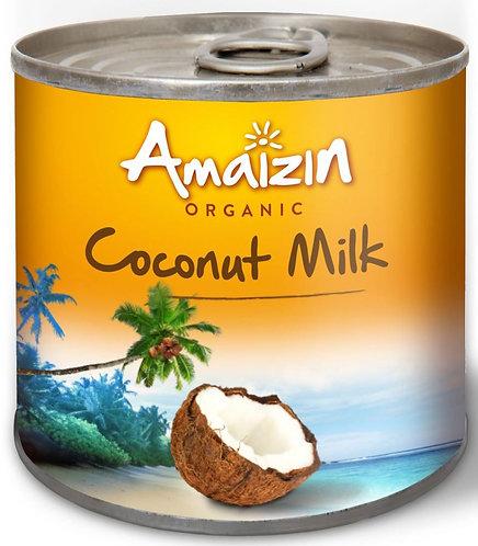 Coconut Milk Napój Kokosowy w Puszce (17% Tłuszczu) BIO 200ml Amazin