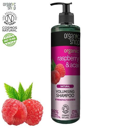 Szampon do włosów - Objętość - Organiczna Malina & Acai 280ml Organic Shop