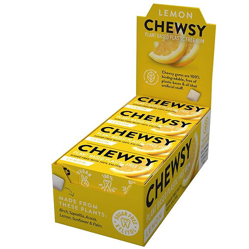 CHEWSY Gumy do żucia o smaku cytrynowym z ksylitolem