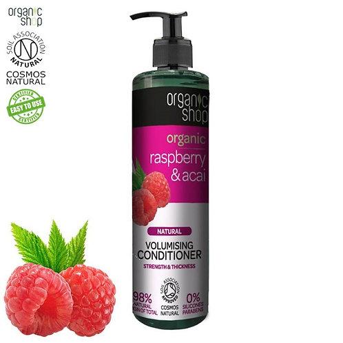 Balsam do włosów zwiększający objętość Malina & Acai 280ml Organic Shop