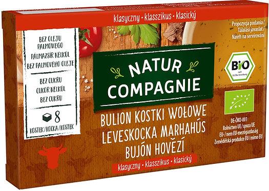 Bulion Kostki Wołowe Bez Dodatku Cukrów BIO 96g Natur Compagnie