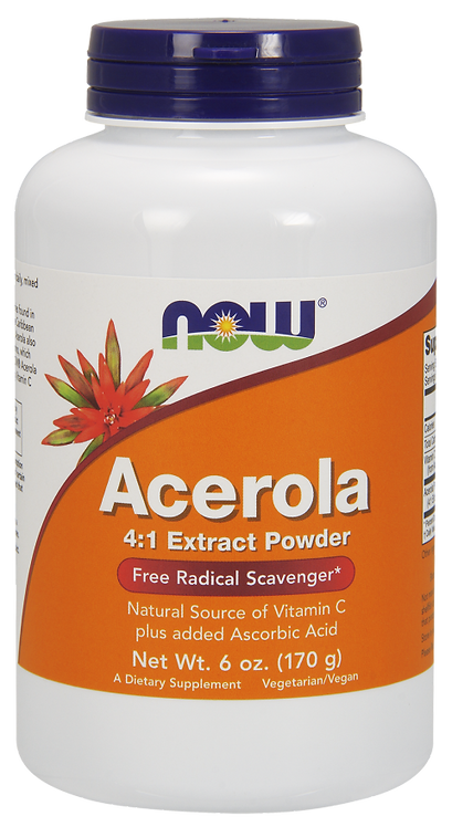 Acerola 4:1 Extract Powder 170g NOW FOODS