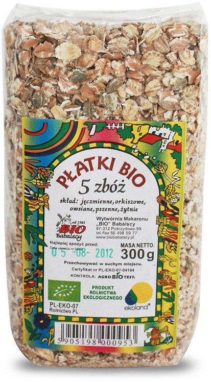 Płatki 5 Zbóż BIO 300g Babalscy