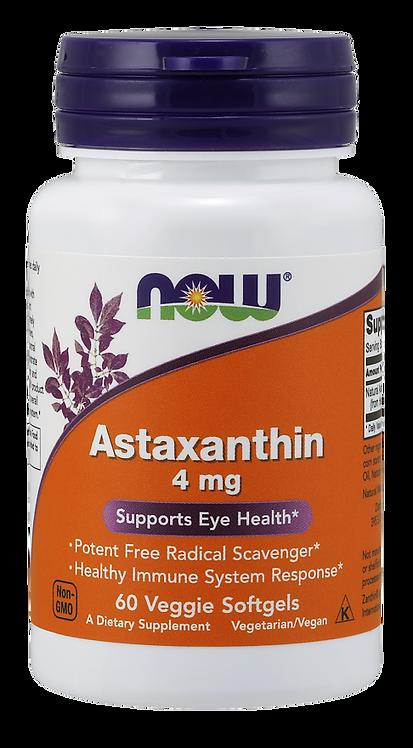 Astaxanthin (Astaksantyna) 4mg 60kaps NOW FOODS