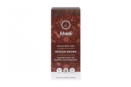 Henna Średni Brąz 100g Khadi