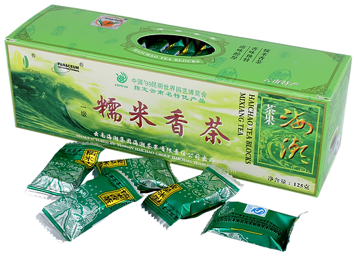Herbata Zielona Ryżowa Prasowana Pu-Erh 125g Meridian