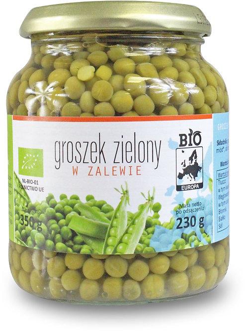 Groszek Zielony w Zalewie w Słoiku BIO 350g (230g) Bio Europa