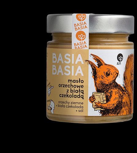 BasiaBasia Masło Orzechowe z Białą Czekoladą 210g Alpi