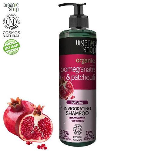 Szampon orzeźwiający do włosów - Granat & Paczula 280ml Organic Shop