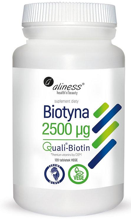 Biotyna 2500 mcg QualiBiotin® x 120tabl. VEGE Aliness