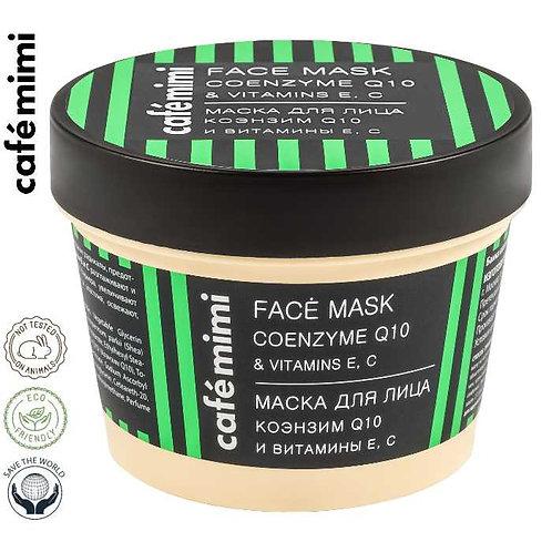 Café mimi Maska do twarzy Koenzym Q 10 i witaminy E, C, 110 ml