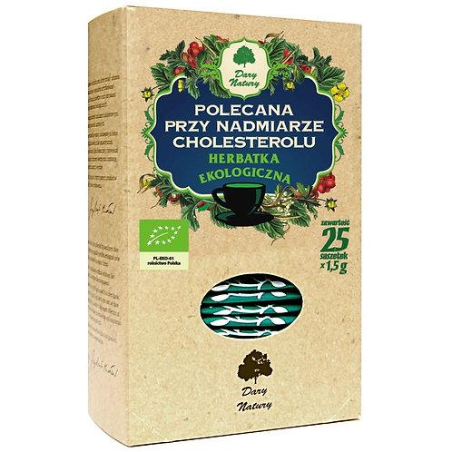 Herbatka Polecana Przy Nadmiarze Cholesterolu BIO (25x1,5g) Dary Natury