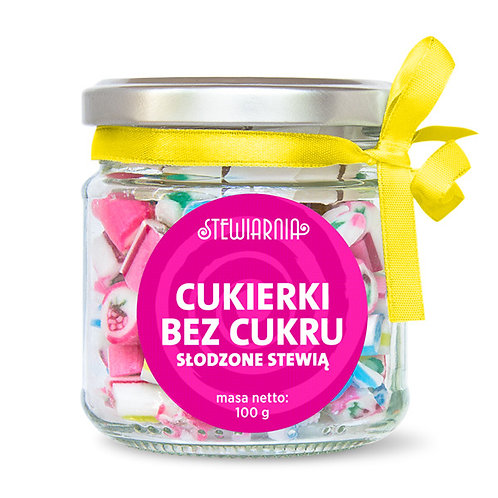 Cukierki w Słoiczku bez Cukru 100g Stewiarnia