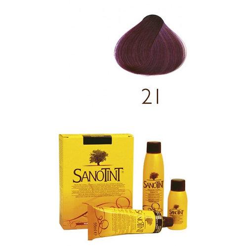 Farba do Włosów na Naturalnej Bazie 21 CIEMNA JAGODA SANOTINT CLASSIC